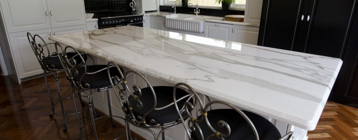 White marble benchtop
